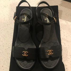 Auth. Chanel Sandals